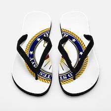 USN Navy Retired Eagle Flip Flops