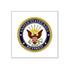 USN Navy Retired Eagle Sticker