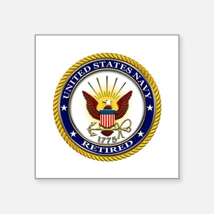 USN Navy Retired Eagle Sticker