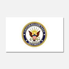 USN Navy Retired Eagle Car Magnet 20 x 12