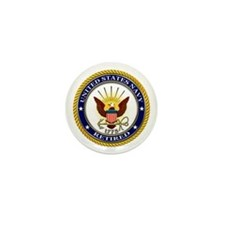 USN Navy Retired Eagle Mini Button (10 pack)