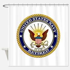 USN Navy Retired Eagle Shower Curtain