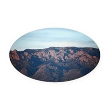 Sandia Crest, Albuquerque, New Mex Oval Car Magnet