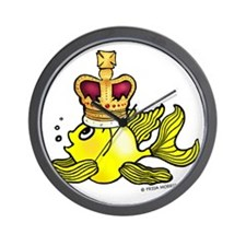 Crown fish Wall Clock