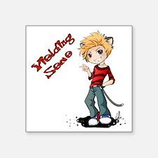 "Yielding Seme Dusk Square Sticker 3"" x 3"""