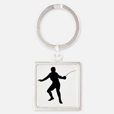 Fencing10 Square Keychain