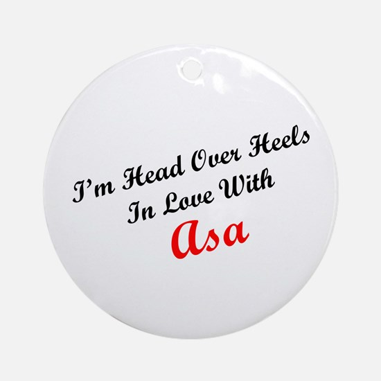 In Love with Asa Ornament (Round)
