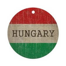 Vintage Hungary Round Ornament