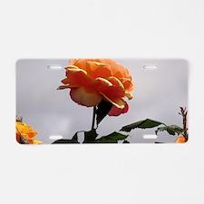 Peach Rose 2 Aluminum License Plate