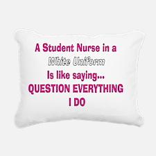 Student nurse white unif Rectangular Canvas Pillow