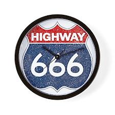 HIGHWAY 666 Wall Clock