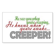 Sees You Sleeping Xmas Creeper Decal