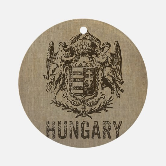 Vintage Hungary Round Ornament