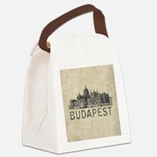Vintage Budapest Canvas Lunch Bag