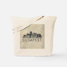 Vintage Budapest Tote Bag