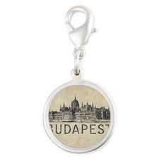 Vintage Budapest Silver Round Charm