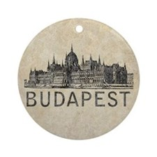 Vintage Budapest Round Ornament