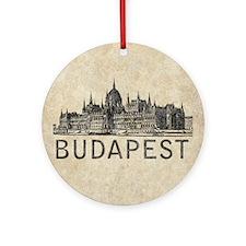 Vintage Budapest Round Ornament