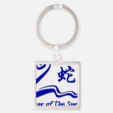 Year of Water Snake Square Keychain