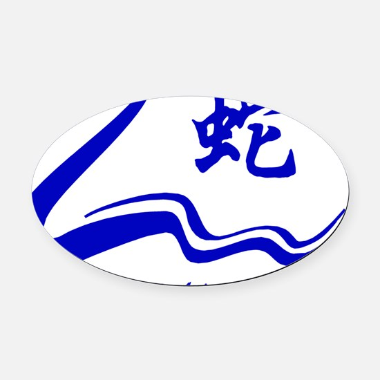Year of Water Snake Oval Car Magnet