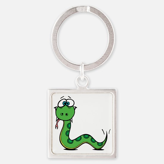 Funny Year of Snake Square Keychain