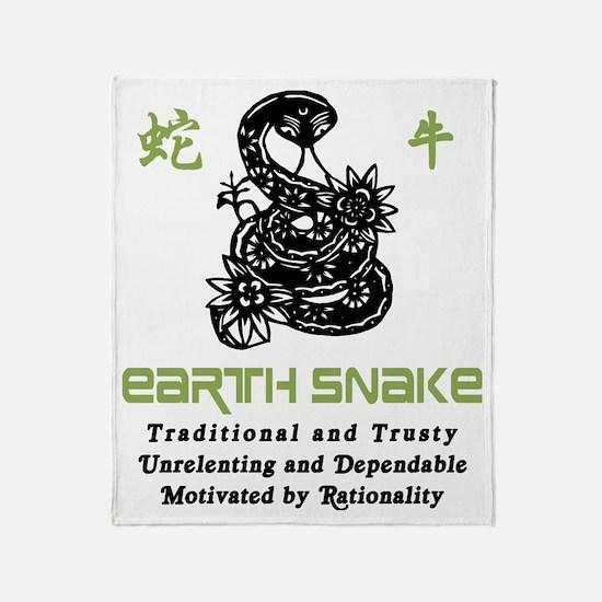 Year of Earth Snake Throw Blanket