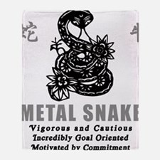Year of Metal Snake Throw Blanket