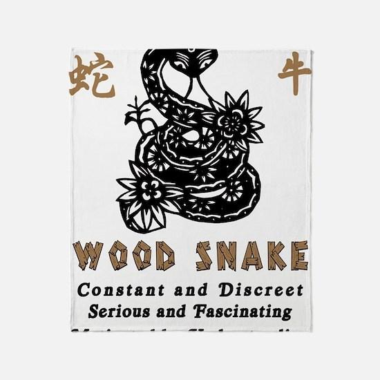 Year of Wood Snake Throw Blanket