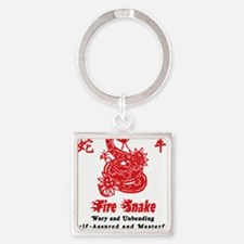 Year of Fire Snake Square Keychain