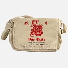 Year of Fire Snake Messenger Bag