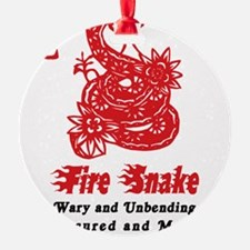 Year of Fire Snake Ornament