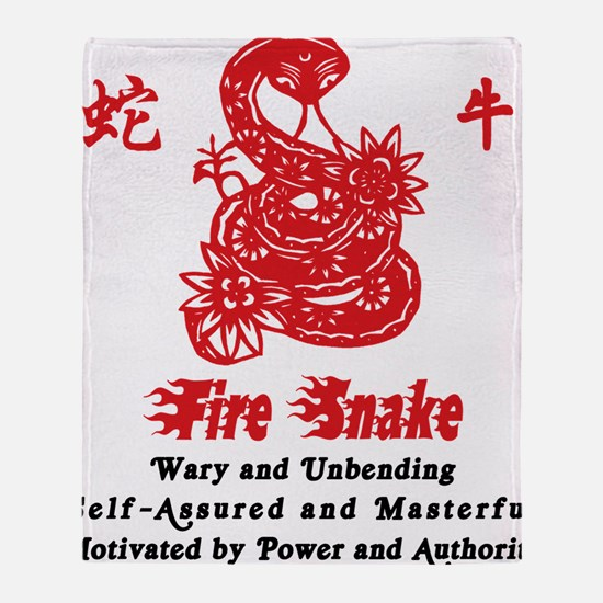 Year of Fire Snake Throw Blanket