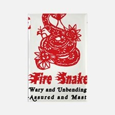 Year of Fire Snake Rectangle Magnet