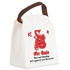 Year of Fire Snake Canvas Lunch Bag