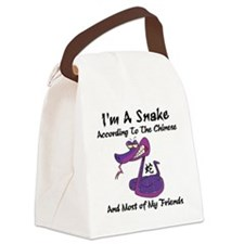 Funny Year of Snake Canvas Lunch Bag