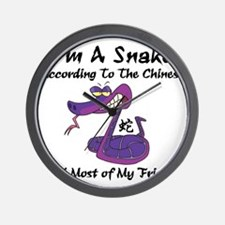 Funny Year of Snake Wall Clock