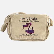 Funny Year of Snake Messenger Bag