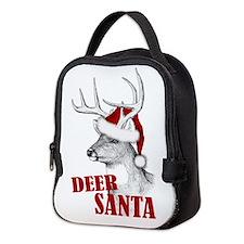Deer Santa Neoprene Lunch Bag