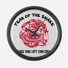 Year of Snake Large Wall Clock