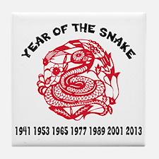 Year of Snake Tile Coaster