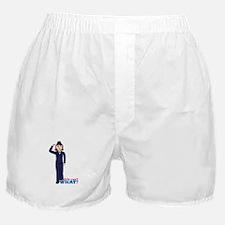 Woman Airforce Dress Blues Boxer Shorts