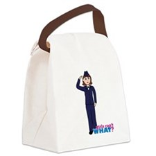 Woman Airforce Dress Blues Canvas Lunch Bag