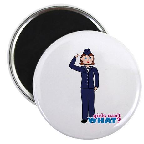 Woman Airforce Dress Blues Magnet