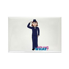 Woman Airforce Dress Blues Rectangle Magnet