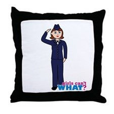Woman Airforce Dress Blues Throw Pillow