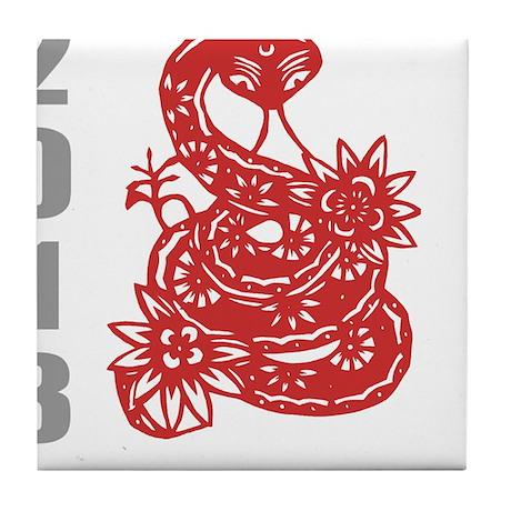 Year of Snake 2013 Tile Coaster