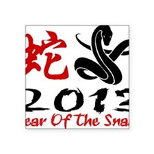 "Year of Snake 2013 Square Sticker 3"" x 3"""