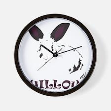 Logo on Black Wall Clock
