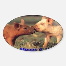 piglets Sticker (Oval)
