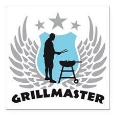"grillmaster Square Car Magnet 3"" x 3"""